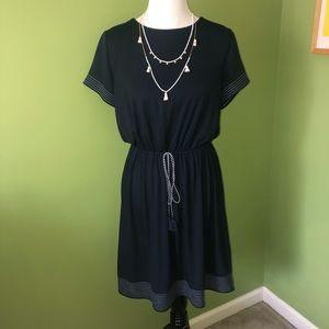 LOFT navy t-shirt dress with elastic waist